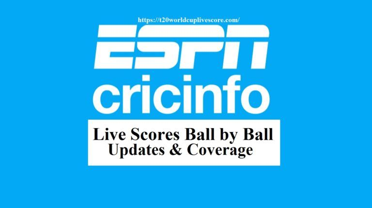 Cricinfo Live Scores Ball by Ball Coverage - T20 World Cup 2020 Live Score
