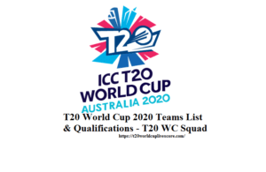 T20 World Cup 2020 Teams List & Qualifications - T20 WC Squad