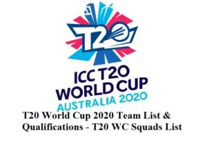T20 World Cup 2020 Team List & Qualifications - T20 WC Squads List