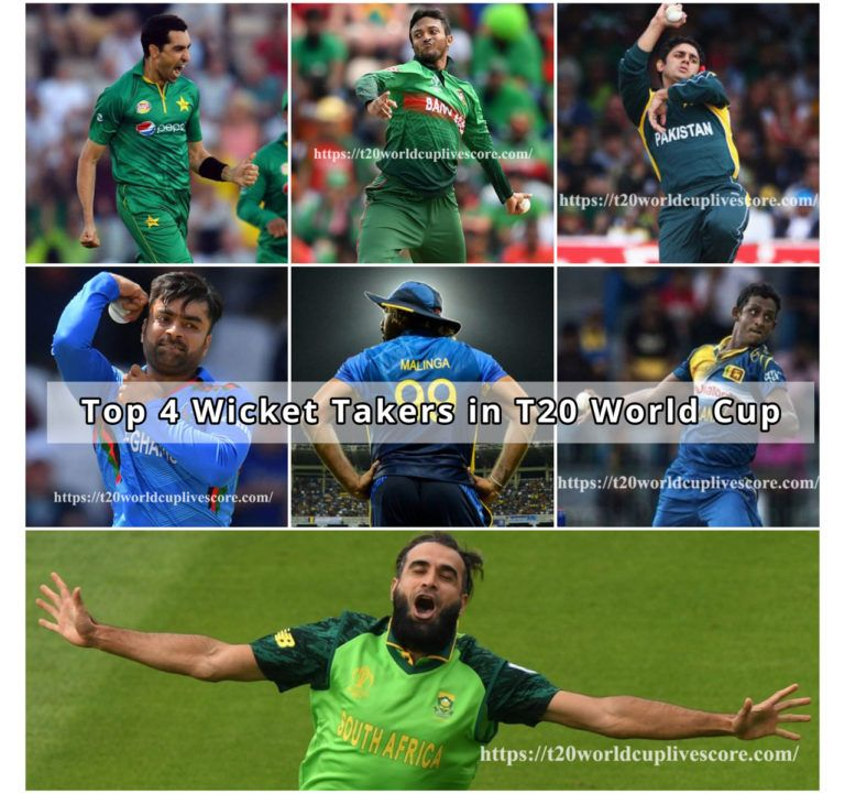 Top 4 Wicket Takers in T20 Cricket World Cup {Bowling Record}