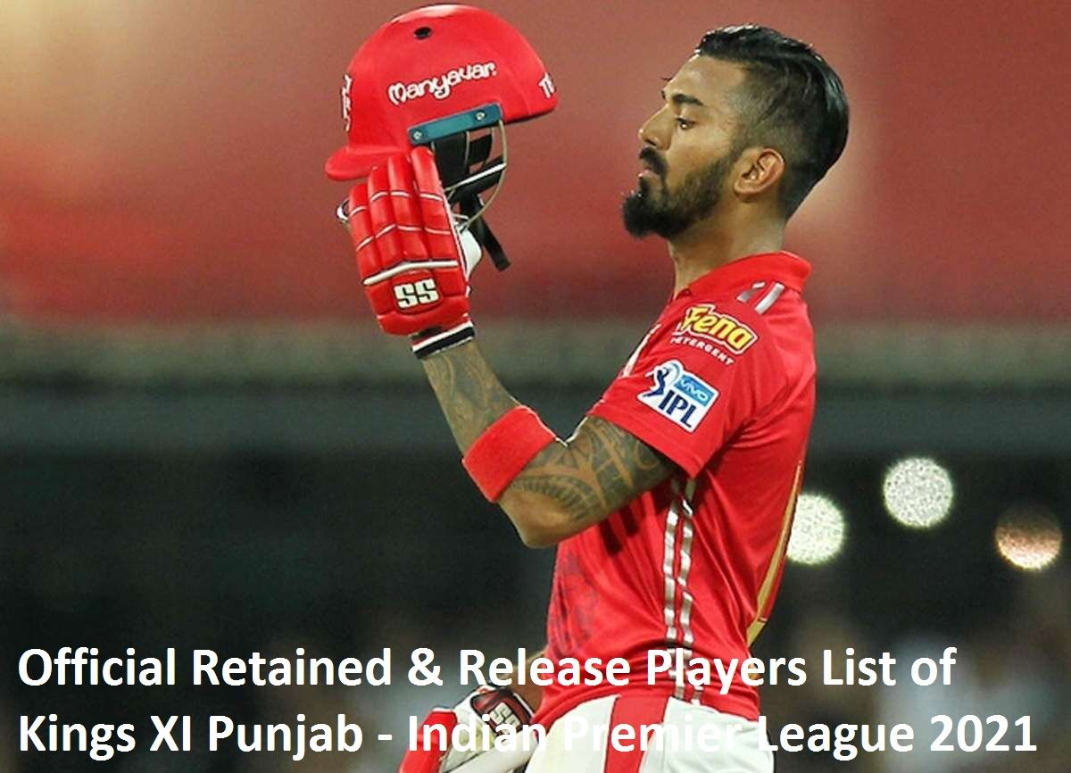 Official Players List of Kings XI Punjab in IPL 2021 & Release Players