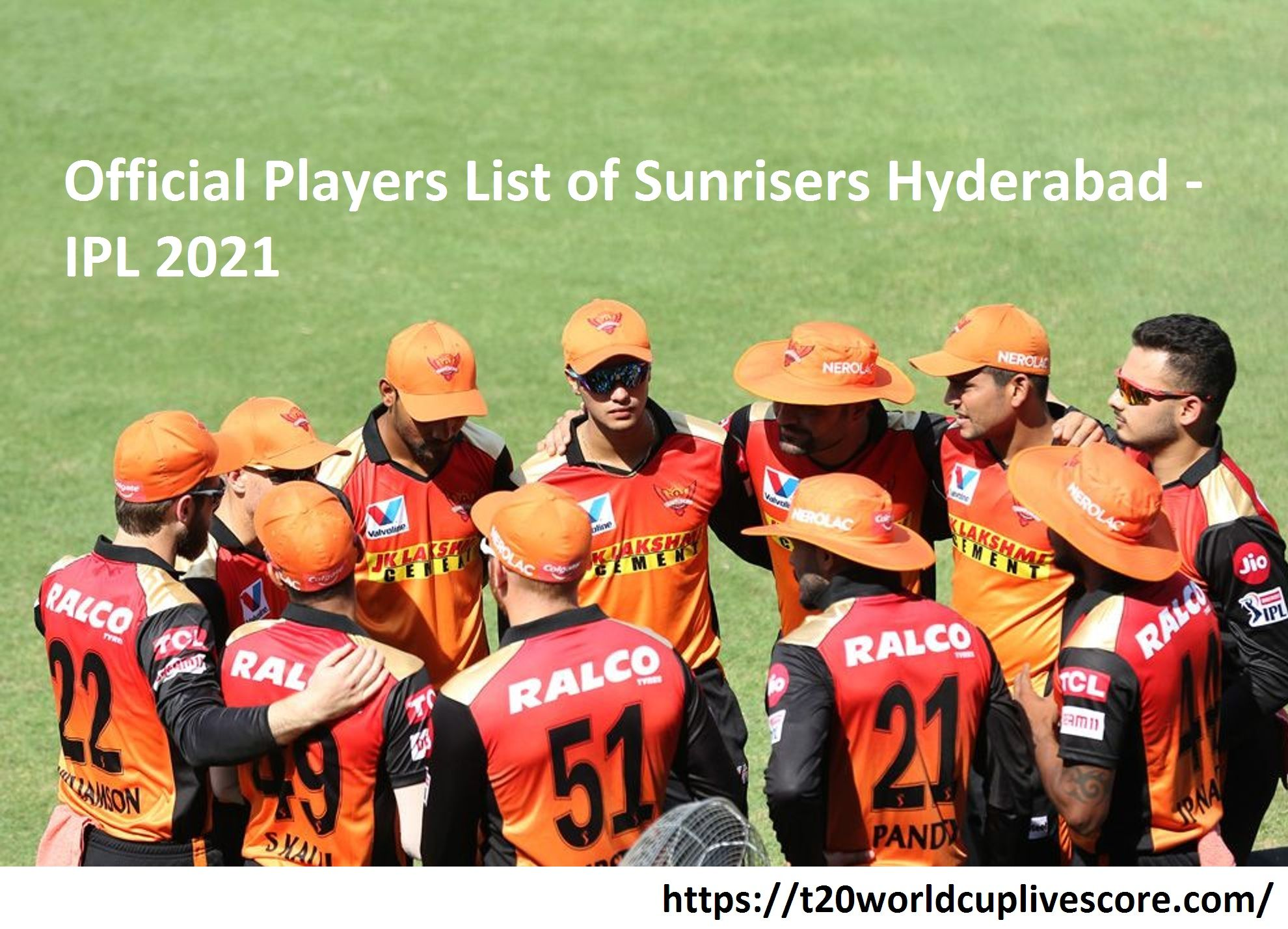 Official Players List of Sunrisers Hyderabad in IPL 2021