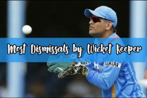 dismissals by wicket keeper