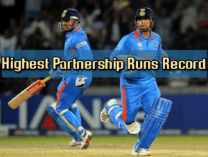 highest partnership runs record