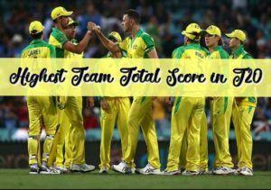 highest total runs score by a team
