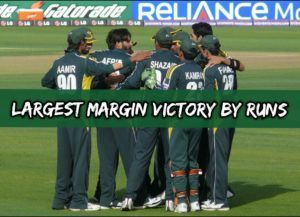 largest margin victory by runs