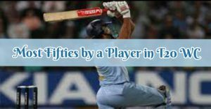 most fifties by a player