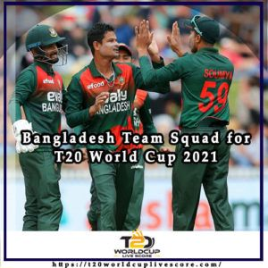 Bangladesh Team Squad for ICC Men's T20 World Cup 2021