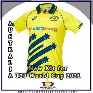 Australia Team Kit - Kiwi's New Kit Jersey for ICC Men's T20 World Cup 2021