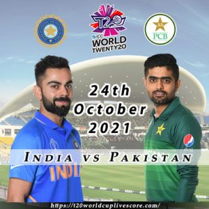 India vs Pakistan T20 World Cup Match Confirmed on 24 Oct 2021
