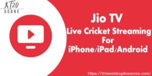Jio Tv T20 World Cup Live Cricket Streaming Channel for iPhone Android