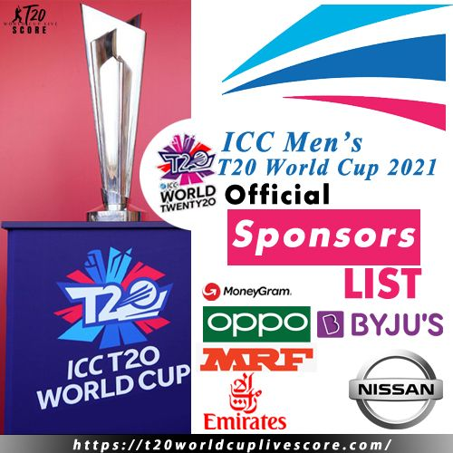 List of ICC Official Partners & Sponsors till 2023 - T20 World Cup 2021