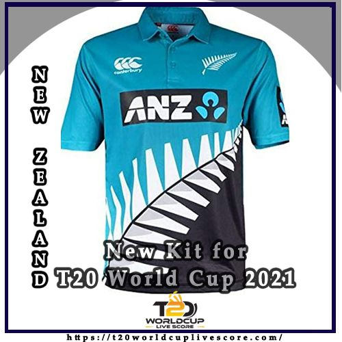 New Zealand Team Kit - Blackcaps New Kit Jersey for T20 World Cup 2021