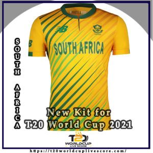 South Africa Team Kit - Proteas New Kit Jersey for T20 World Cup 2021