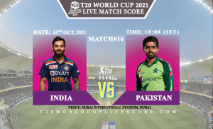 India vs Pakistan Live Score 16th T20 WC Match Live Streaming