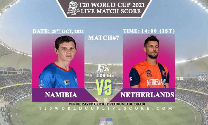 Namibia vs Netherlands Live Score 7th T20 WC Match Live Streaming