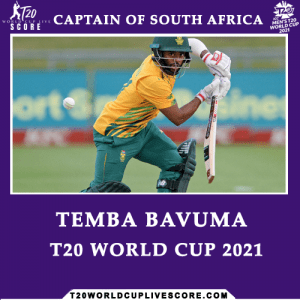 Who Will the Captain of South Africa Team in ICC T20 World Cup 2021